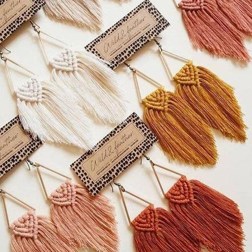 Rio - Large Macrame Earrings