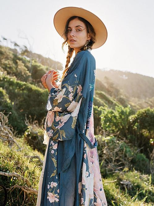 Bali - Colourful Boho Kimono Dressing Gown Cardigan for Women Staycation