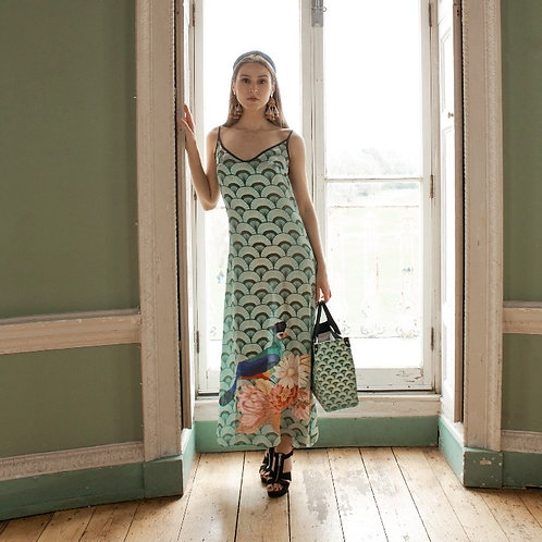 Passaro Roxo - Colourful Luxury Satin Dress