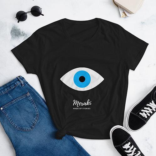 Made of Stories Meraki t-shirt - Blue Eye cotton t-shirt for Women