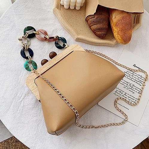 Praia - Clutch Bag with Colourful Statement Chain