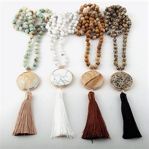 Soraya - Boho Pendant Necklace with With Semi Precious Stones
