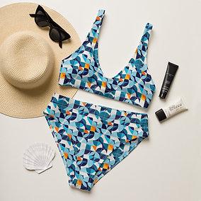 Azul - Recycled high-waisted bikini