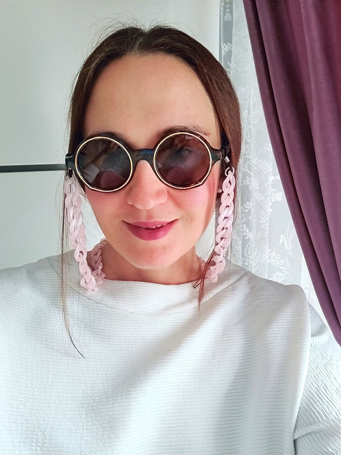 Pink Sunglasses Chain and Mask Garland