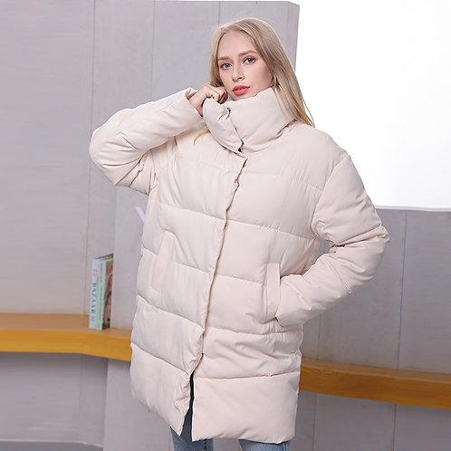 Oversized Down Coat in Long Line - Long Puffer Jacket