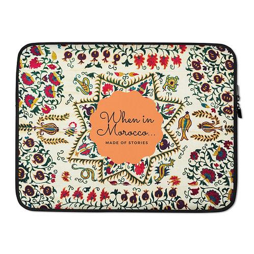 Meknes - bohemian style laptop case - colourful snug fit laptop cover