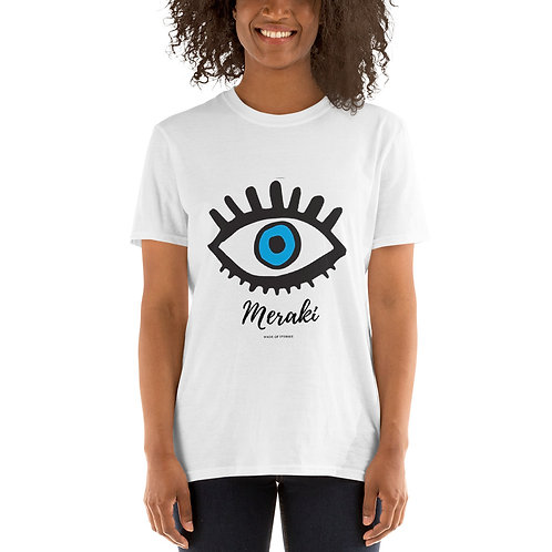 Meraki t-shirt - Blue Eye cotton t-shirt for Women - gift for her
