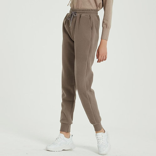 Wool Joggers with Fleece Lining - Warm Pants