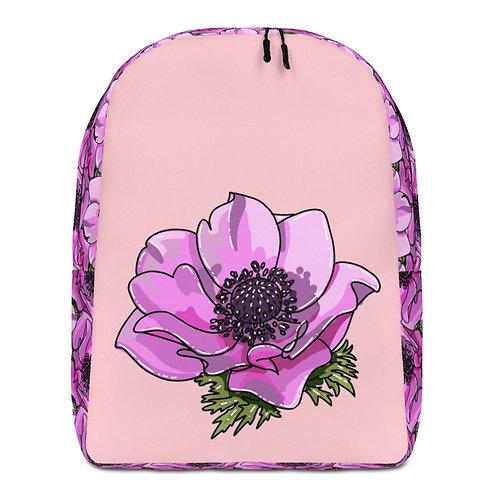 Flor Roxa - Pink Floral Backpack for Women or Girls