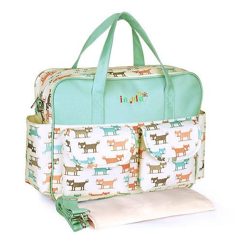 Waterproof Nappy Bag - Tote Baby Care Bag in Happy Design