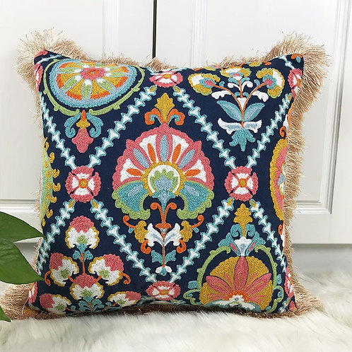 Arte - Embroidered Cushion Covers with Tassels