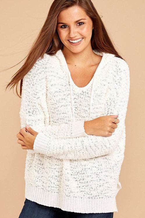 Women's White Jumper - White Hooded Sweater