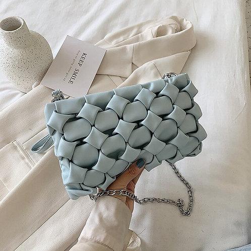Weave handbag - Women's bag in Black, Beige, Yellow, Purple, Blue Colours