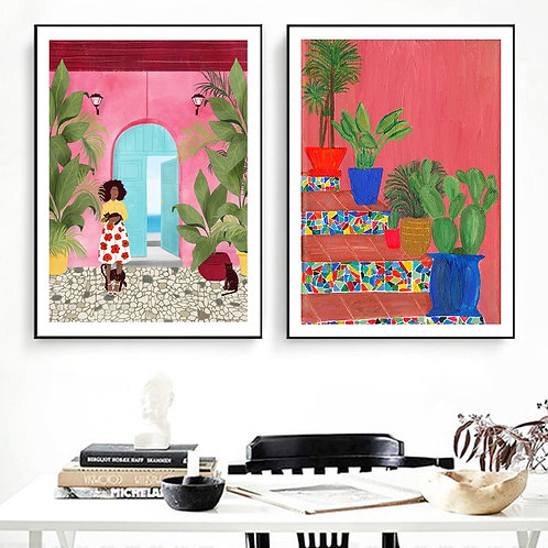 South American Life Wall Art Poster