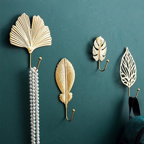 Golden Leaf Hooks Coat Rack Hanger