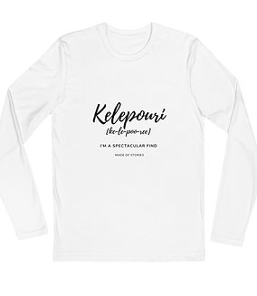 Kelepouri T-Shirt - long-sleeve cotton tee for men anniversary gift idea for him