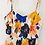 Thumbnail: Laranja - Petite Pleated Colourful Dress with Tank Top in Midi Length