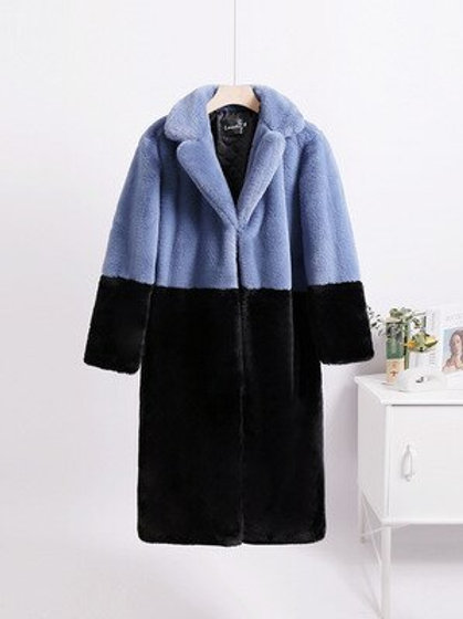 Gretel - Faux Fur Coat - Vibrant Duotone Women's Oversized Jacket