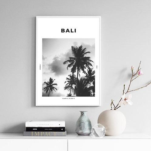 Bali Black & White Photography Poster Wall Art