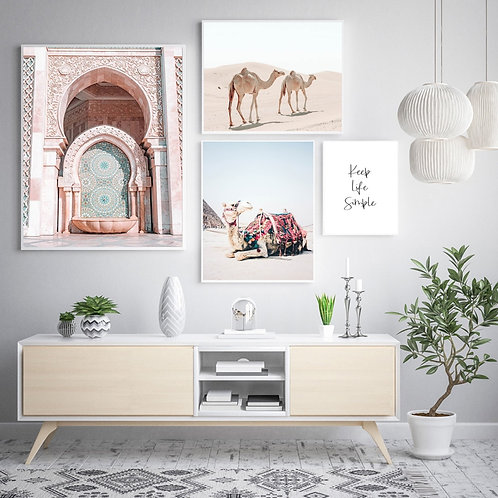 Morocco Door Wall Art - Canvas Poster