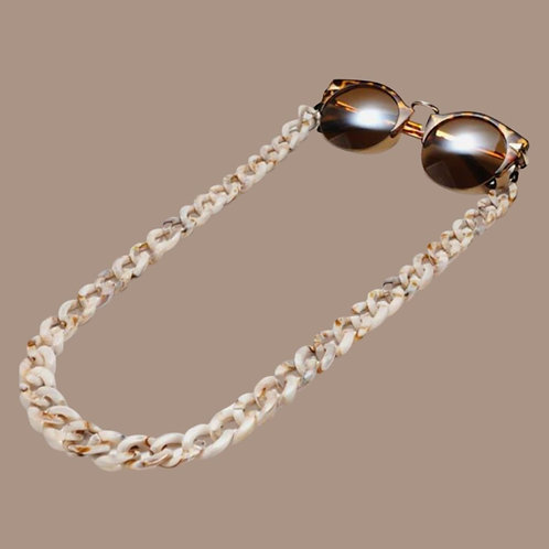 Brown Beige Sunglasses Chain and Mask Garland