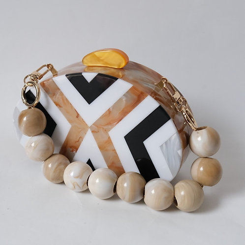 Melancia - Shell Handbag with Beaded Handle