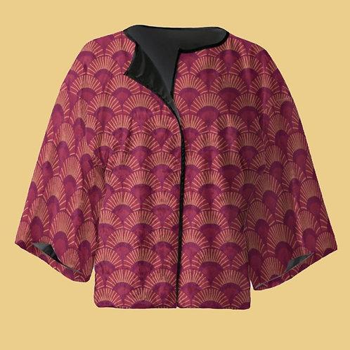 Paixao - Velour Kimono Blazer with Silk Lining