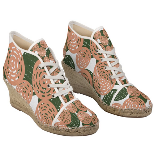 Brazil Mato - Floral Lace up Handmade Espadrille Wedges