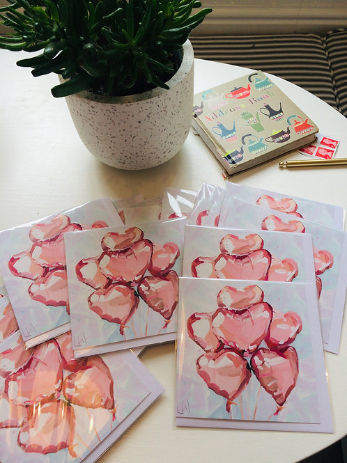 Rose Heart greetings cards