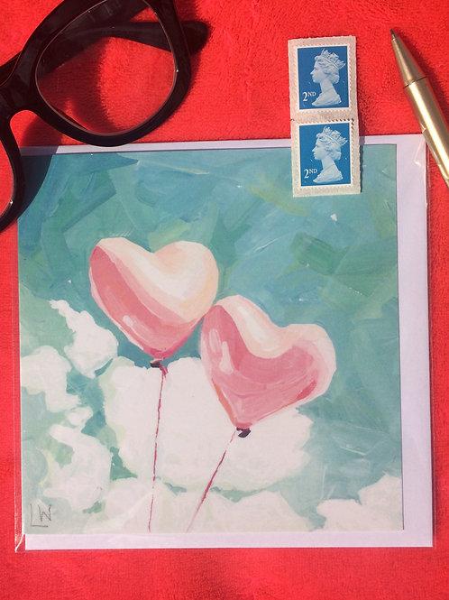 2 Pink balloons