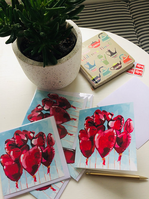 Red Heart greetings cards