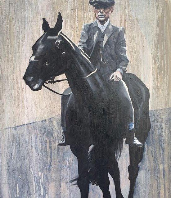 Tommy on horseback