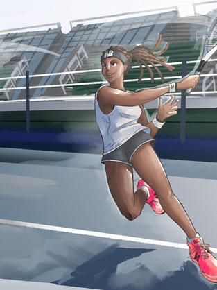 Coco Gauff Tennis splash