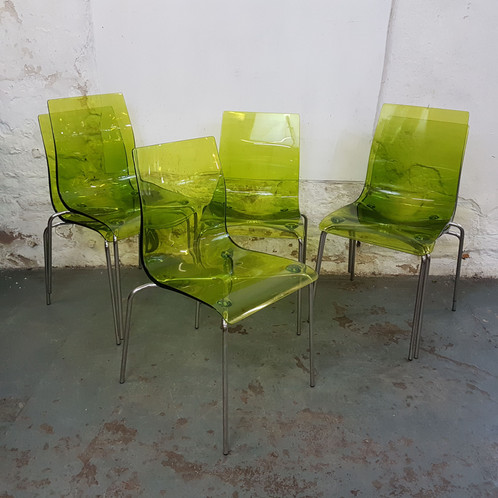 calligaris l eau lime polycarbonate italian dining chairs