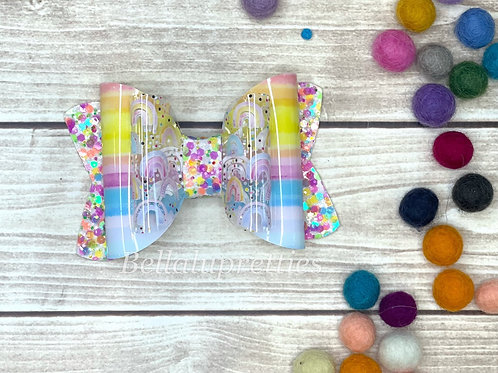 Rainbow Jelly Large Chloe Bow