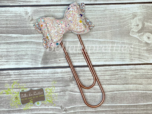 Light Peach Bow Bookmark