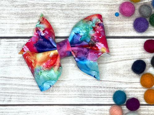 Watercolor Rainbow Larkin Bow