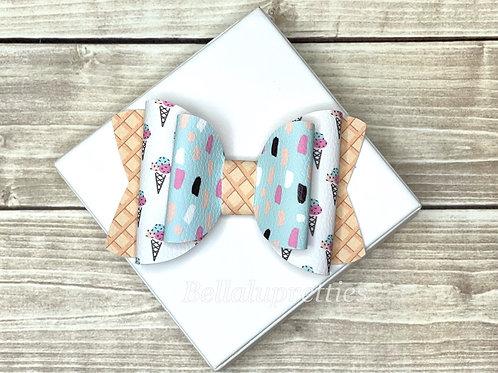 Pastel Ice Cream  Large Chloe Bow