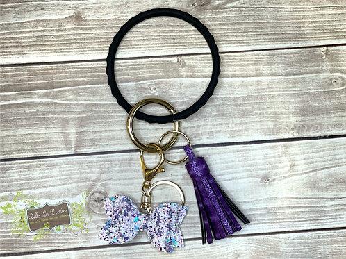 Black Bracelet Keychain