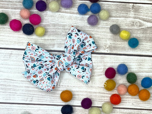 Floral Rainbow Large Pretty Bow