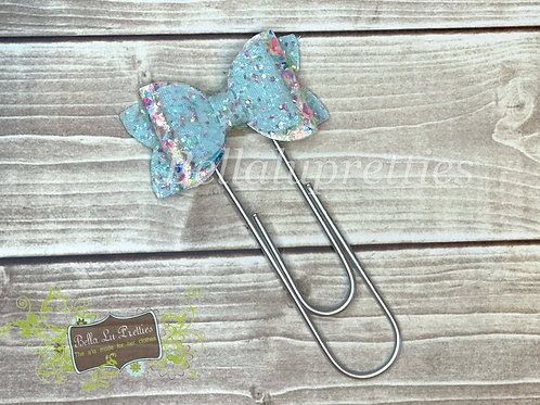 Light Blue  Bow Bookmark