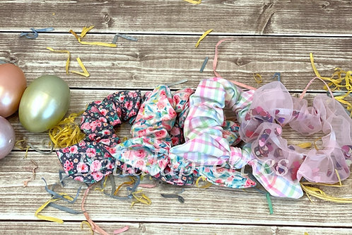 Spring Pattern Scrunchies
