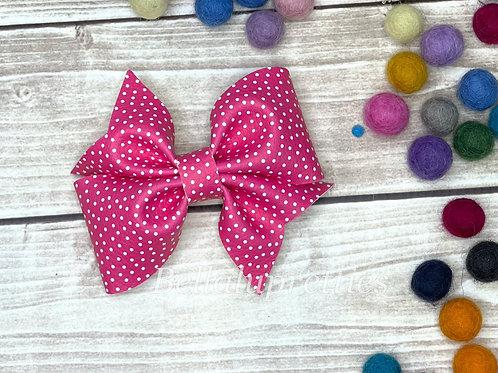 Pink Dots Larkin Bow