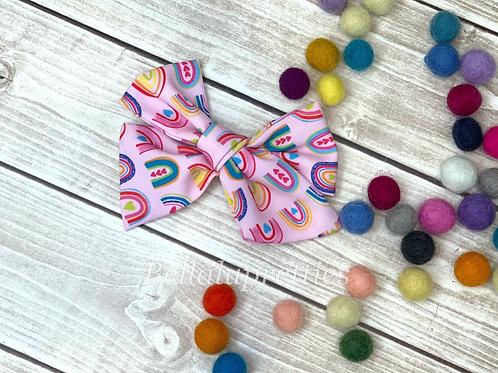 "Pink Rainbow 4"" Pretty Bow"