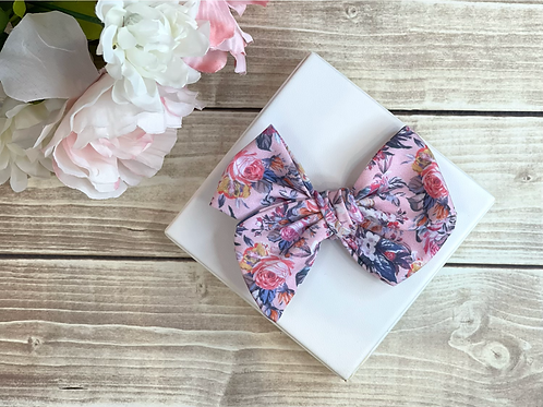 Pink Floral Essence Large Pretty Bow