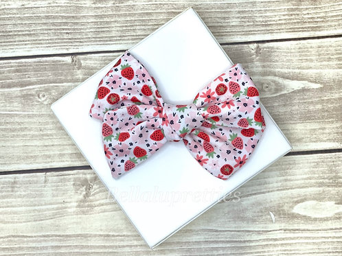 Strawberry Large Pretty Bow