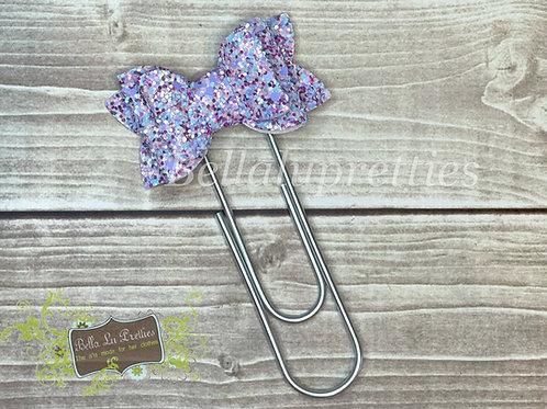 Lavender  Bow Bookmark