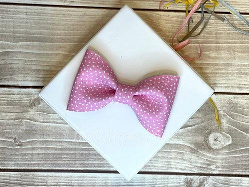 Pink Dot Pet Collar Bowtie