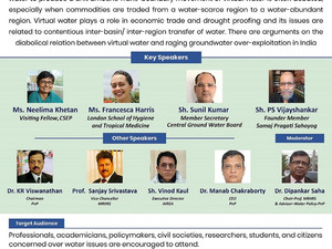 Virtual Water -The Issues and Policy Implications in India, a webinar 5th June, 2021