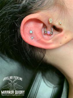 Two Cartilage Piercings